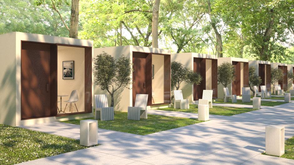 Sit modular solutions novo bungalow green for Design della casa bungalow